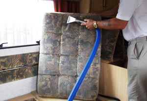caravan vacuuming
