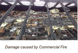 damage caused by commercial fire